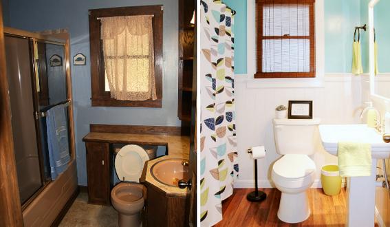 ванной комнаты в хрущевке : фото до и